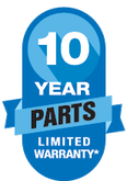 10 year parts warranty all ac systems